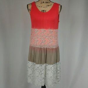 Umgee lace ombre sleeveless dress Large